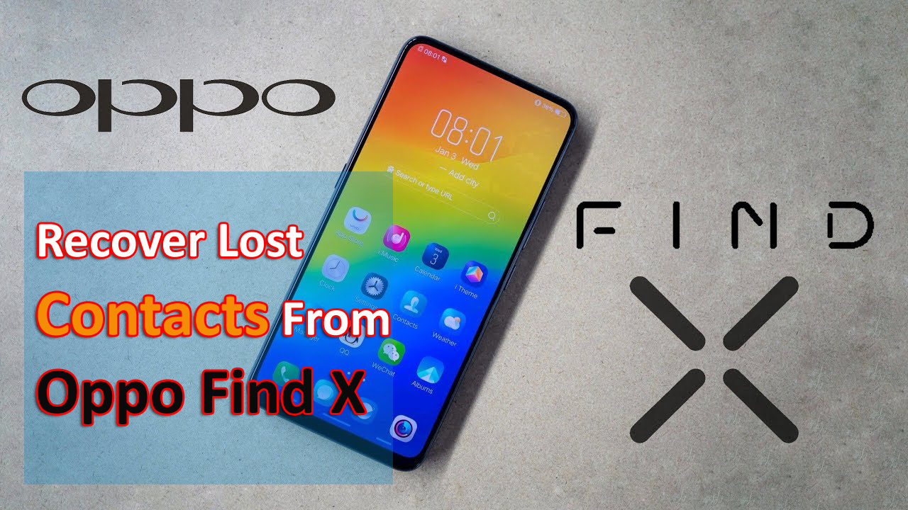 Recover Lost Contacts From Oppo Find X