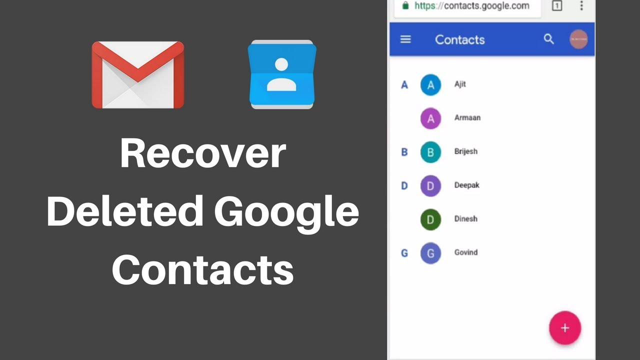 How To Restore Contacts From Gmail