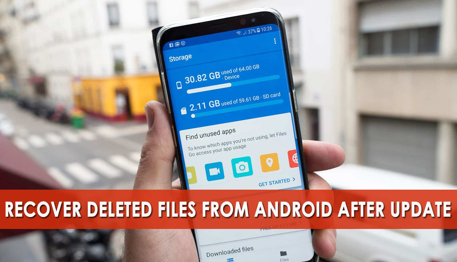 recover deleted files after Android update