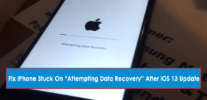 """Fix iPhone Stuck On """"Attempting Data Recovery"""" After iOS 13 Update"""