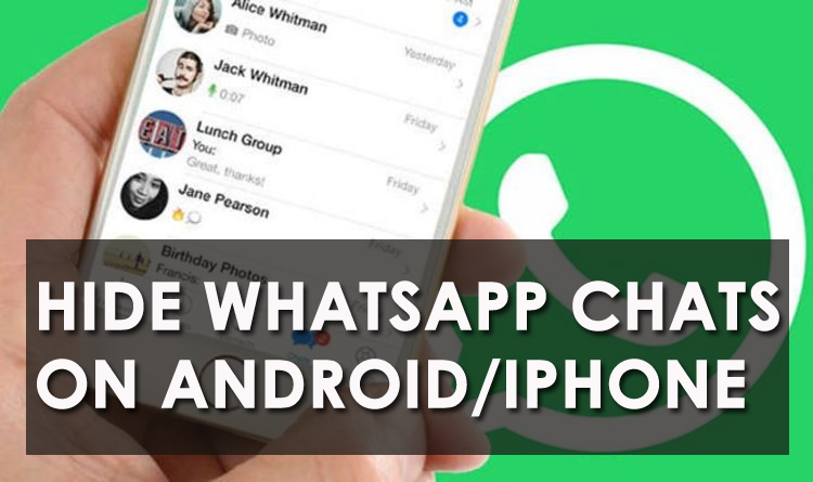 Hide WhatsApp Chats On Android/iPhone