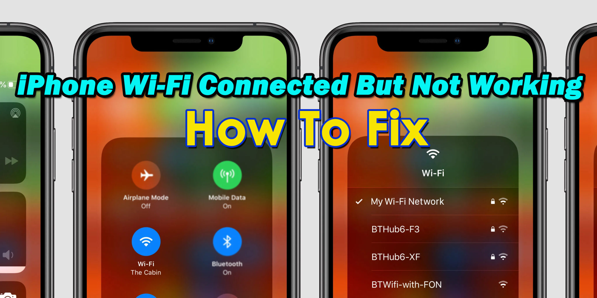 iPhone Wi-Fi Connected But Not Working