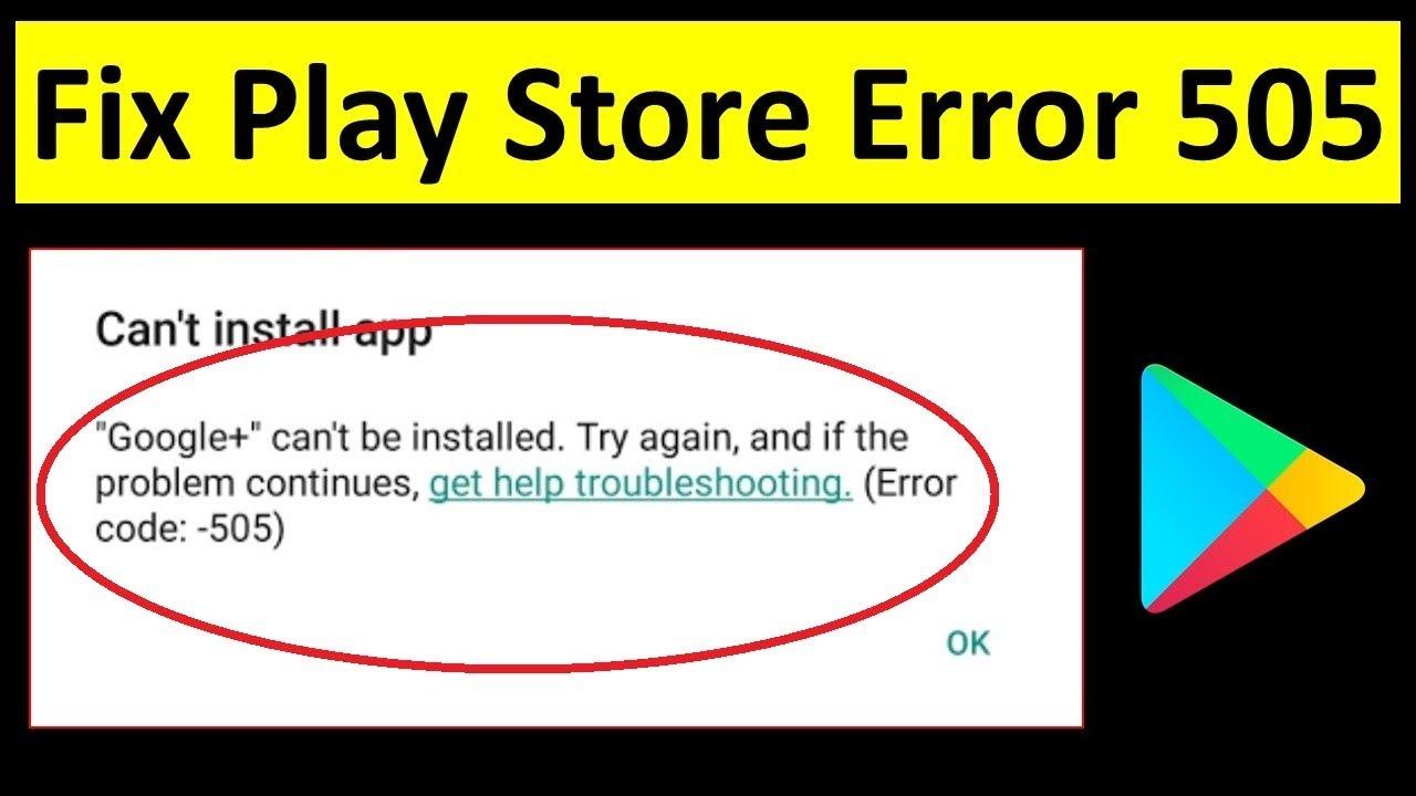 Fix Error 505 In Google Play Store