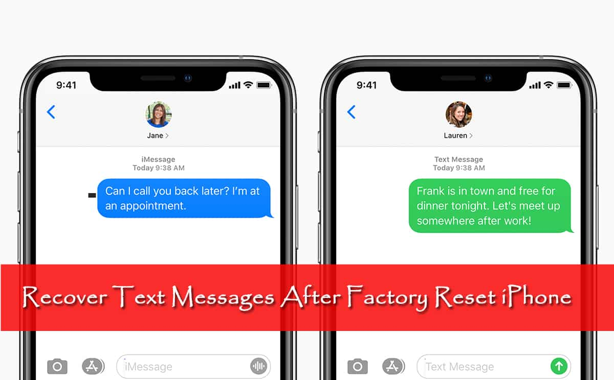 Recover Text Messages After Factory Reset iPhone